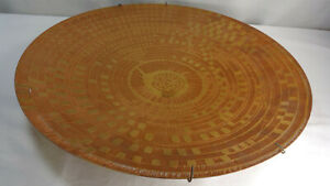 Lee Peck Mid Century Abstract Copper Atomic Metal Art Wall Ceiling Hanger Plate
