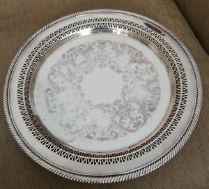 Wm A Rogers Silver Plated Serving Tray 12 1 4 Nice