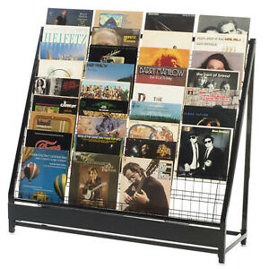 Vinyl Record Rack 252 Lps Album Displays Store Fixture Black Metal Lot Of 2 New