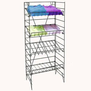 Wire Rack 4 Shelf Retail Candy Snack Chips Shirts Display Fixture 55 Tall New
