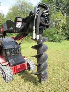 Used Ditch Witch Mini Skid Auger Post Hole Digger With 12 Auger Bit Ship 199
