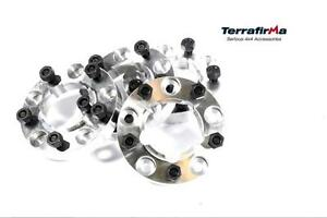 Land Rover Defender 90 110 130 New 30mm Wheel Spacers Nuts Tf301
