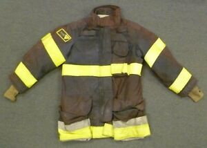 42x35 Janesville Black Firefighter Jacket Coat Bunker Turn Out Gear J746