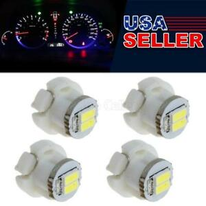4 X T3 Neo Wedge 2 1206 Smd Led White Cluster Instrument Dash Climate Bulb