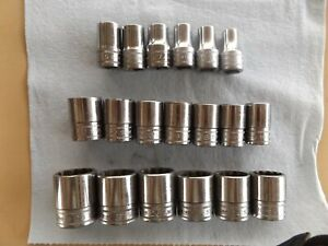 Snap On 1 2 Drive 12 Point Metric Shallow Socket Set 19pc Set 10 28mm