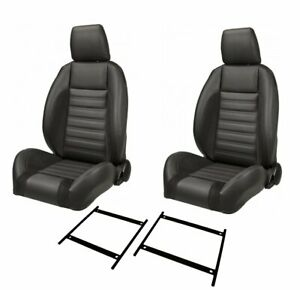 Sport r Low Back With Headrest Univeral Bucket Seat Set W bracket Set