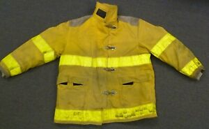 52x35 Globe Yellow Firefighter Jacket Coat Bunker Turn Out Gear J751