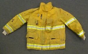44x32 Globe Yellow Firefighter Jacket Coat Bunker Turn Out Gear J752