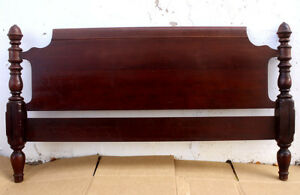 57 X32 Antique Vintage Victorian Wooden Wood Full Size Bed Foot Board Footboard