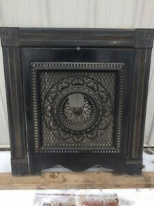 Vintage 1890 S Fireplace Surround And Summer Cover Screen Heavy Piece