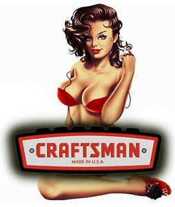 Craftsman Tool Sticker Calm Girl Sexy Decal Mechanic Toolbox Sign Chest Usa