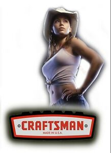Craftsman Tool Sticker Country Girl Sexy Decal Mechanic Toolbox Sign Chest Usa