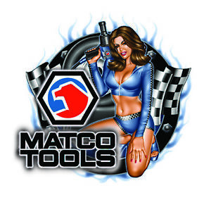 Matco Tools Sticker Decal Impact Pinup Girl Mechanic Chest Toolbox Chest Tin Usa