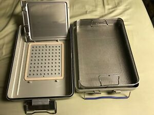 Medin Act2 Medium Size Sterilization Case Container Basket 17 X 12 X 4