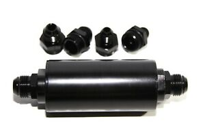 40 Micron High Flow Fuel Filter Black An6 An8 An10 Fitting Cleanable Filter
