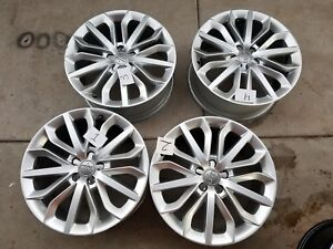 2012 2015 Audi A6 Factory Oem Wheels Rims Silver 19x8 5 Set Of4 Free Shipping