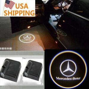 For Mercedes Benz 2x Wireless Car Led Door Projector Logo Ghost Shadow Light New