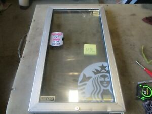 Used Replacement Glass Door Coolpoint Aht Starbucks Beverage Cooler 33 25x18 75