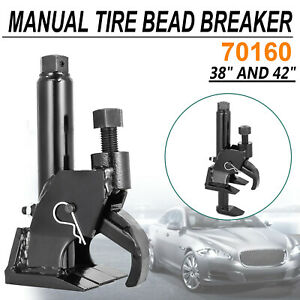 70160 Manual Tire Bead Breaker Loosens Rim Wrench Tool Leverage