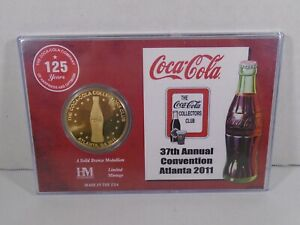 COCA COLA COLLECTORS CLUB--37th ANNUAL CONVENTION ATLANTA 2011--125 YEARS COIN