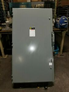 Square D 400 Amp Non fused Safety Switch 600 Vac 350 Hp 3 Phase Hu365
