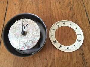 Vintage Fortuna Mantle Clock Wind Up Movement Face Hands For Parts Or Repair
