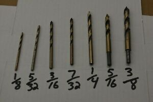 Drill Bits For Plastic Acrylic Sheet Plexiglass Lexan Polycarbonate 7pc Set