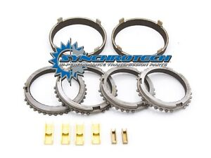 T45 Mustang Cobra Gt Carbon Synchronizer Ring Set With Bronze Fork Pads