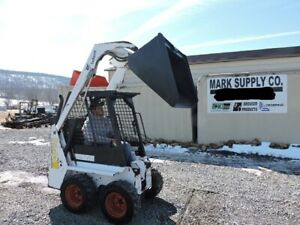 1997 Bobcat 450 Mini Rubber Tire Skid Steer Loader 18 Hp Kohler 42 Bucket