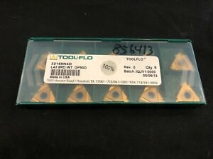 Tool flo 32158n4d Threading Inserts L43 8rd Int 10 Pack Factory Sealed