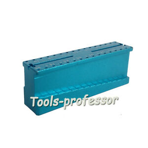 Measuring Block Holder Stand Dental File Ruler Endodontic Supply Aluminum Alloy