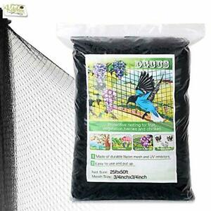 25 X 50 Ft Bird Netting Poultry Netting Protect Plants And Fruit Trees Garden