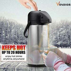 Thermal Airpot Coffee Carafe Beverage Dispenser Stainless Steel For Hot Cold