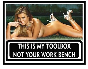 Funny Toolbox Sticker Perfect For Garage Sexy Girl Tool Box Made In Usa A001