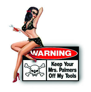 Funny Toolbox Decal Sticker For Garage Sexy Girl Tool Box Made In Usa A006