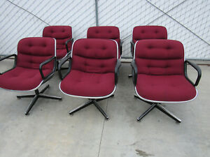 Knoll Charles Pollock Chairs Mid Century Modern Executive Office Chair 6 Avail