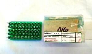 Box Of 50 Resharpened Megatool Micro Carbide Pcb Drill Bits 78 0160