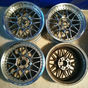 4 17 Riverside Stich Mesh Jdm Wheels Rims 5x114 3 17x8 23 17x7 17 Rare 3pc