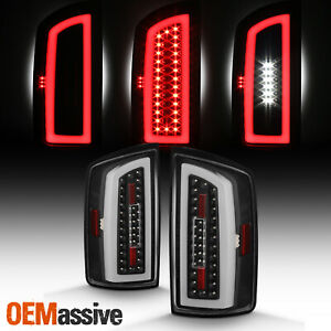 For 2007 2008 Dodge Ram 1500 2500 2009 3500 Led Tube Bar Black Tail Brake Lights