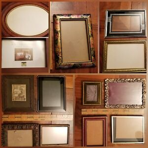 One Group Of Vintage Picture Frames