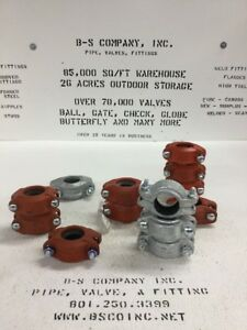 Rigid Flexiblegrooved Pipe Coupling 1 5 lot Of 13 Vic Gruvlok Etc
