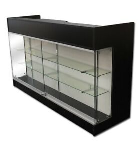 Ledgetop 6 Sales Pos Reception Showcase Counter Knockdown Black New