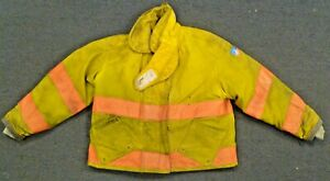 52x27 Firefighter Jacket Coat Bunker Turn Out Gear Yellow Morning Pride J695