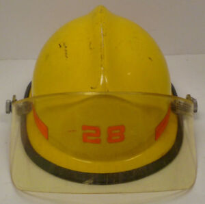 Yellow Cairns N660cex Helmet With Visor Firefighter Turn Out Fire Gear H186