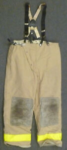 42x30 Globe Firefighter Pants With Suspenders Turnout Bunker Fire Gear P955
