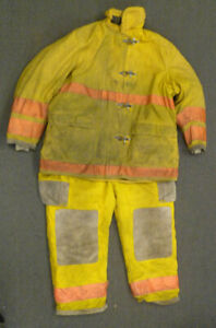 Firefighter Set Globe Jacket 48x36 Pants 44x28 Bunker Turn Out Gear S35