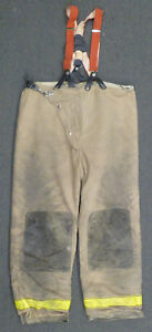 42x32 Globe Firefighter Pants With Suspenders Turnout Bunker Fire Gear P948