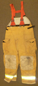 42x32 Globe Pants With Suspenders Firefighter Turnout Bunker Fire Gear P882