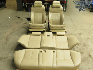 04 07 Bmw E60 Complete Front Rear Comfort Active Seat Cushion Assy Beige Oem