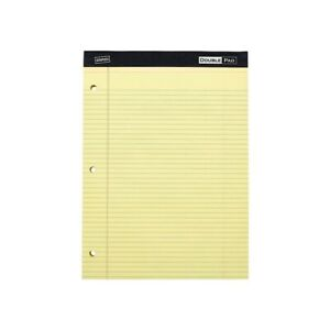 Staples Notepads 8 5 X 11 75 Wide Yellow 100 Sh pad 6 Pads pk 478871